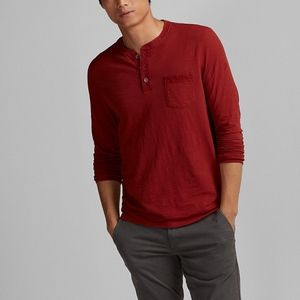 Express Garment Dyed Henley Copper Color